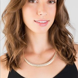 Francescas Deidra Crescent Moon Statement Necklace